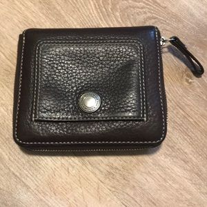 Coach Soft Pebble Leather Zip Around Wallets